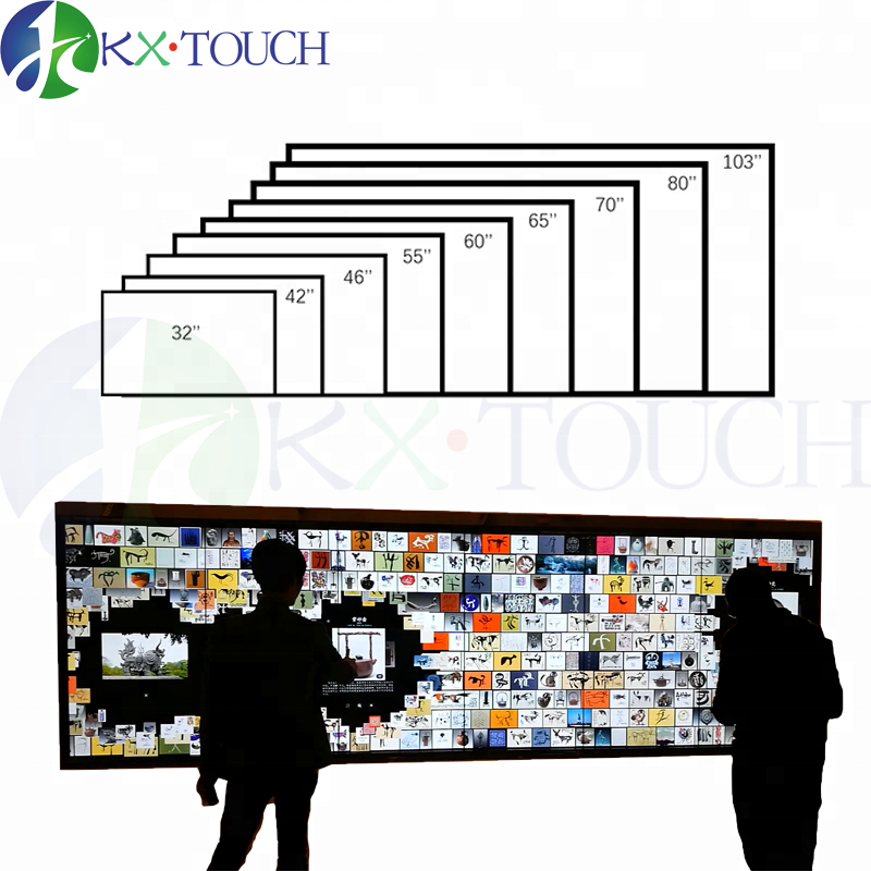 Anti-glare large size usb Digital Interactive Touch Screen Panel/overlay kit