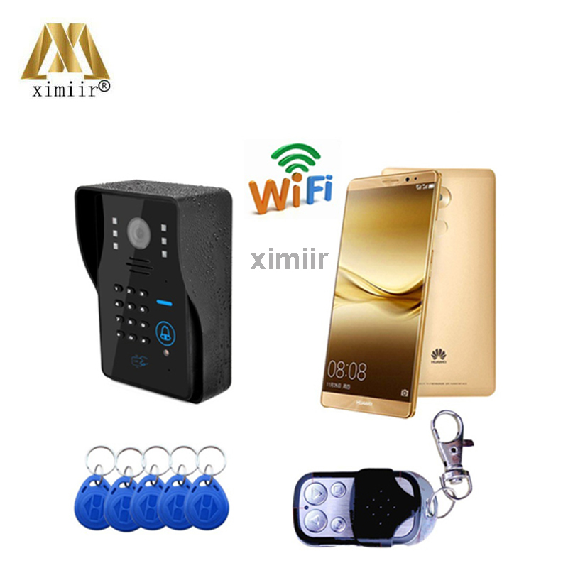 2018 gute Qualität Wifi1002Ids Mobilen Außen Ip Video kamera Android System Wifi Audio Kamera Wireless Video Tür Telefon