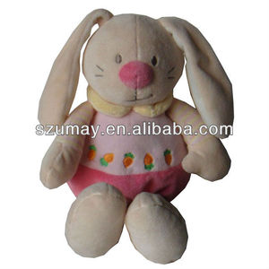 Organic cotton Baby plush toy pink bunny 2018 hot sale Umay-B0057