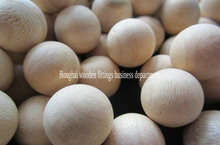 Large wooden decorative balls with hole