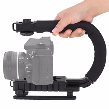 Video Camera Stabilizer >> U Shape Handle Video Bracket Holder Mobile Phone Gimbal Camera