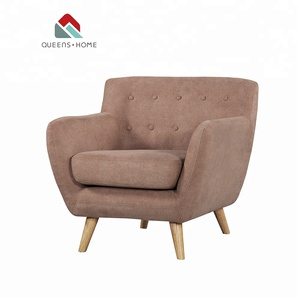 Queenshome brown velvet home accent sitting chairs single reading chair adjustable sofa chair adjustable seat fabric armchair