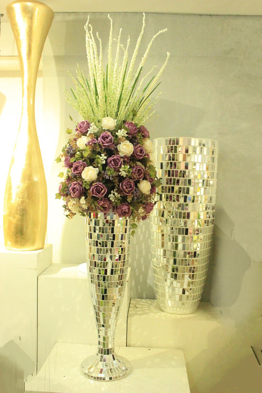 online kaufen gro handel mosaik vase aus china mosaik vase gro h ndler. Black Bedroom Furniture Sets. Home Design Ideas