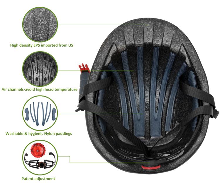 In-mold fashion urban cycling helmet 9