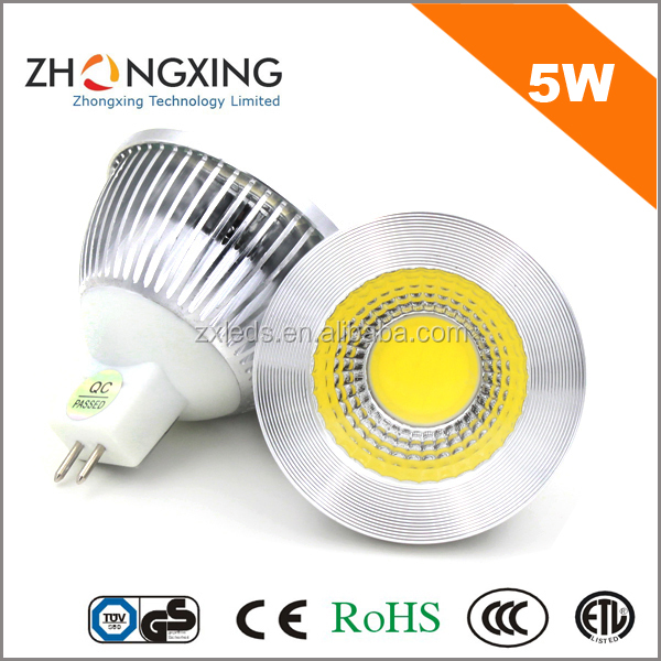 CE UL 12v ac/dc led mr16 dimmable 5w <strong>spotlight</strong>