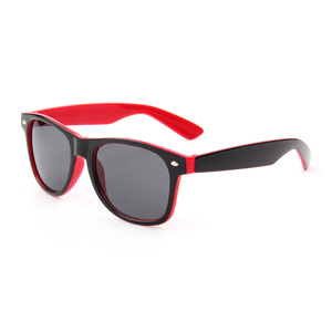 New style plastic two tone sunglasses with cat 3 uv 400 lens