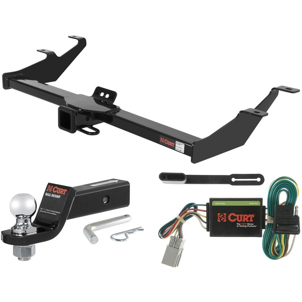 "CURT Class 3 Trailer Hitch Tow Package with 2"" Ball for 2003-2004 Honda Element"