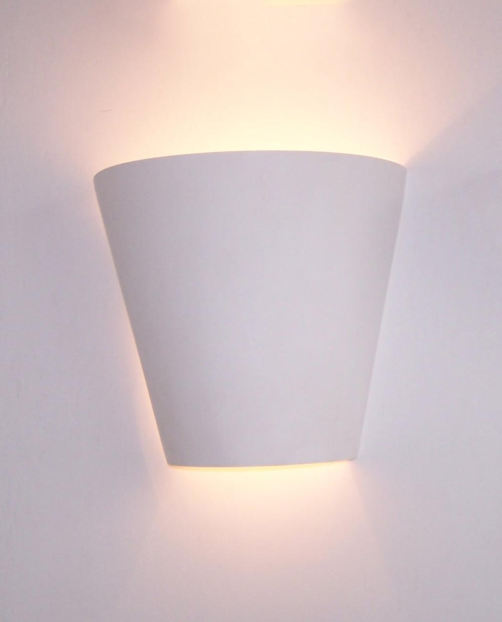 Hottest White Gypsum Plaster Decorative Modern Wall Light Gypsum ...