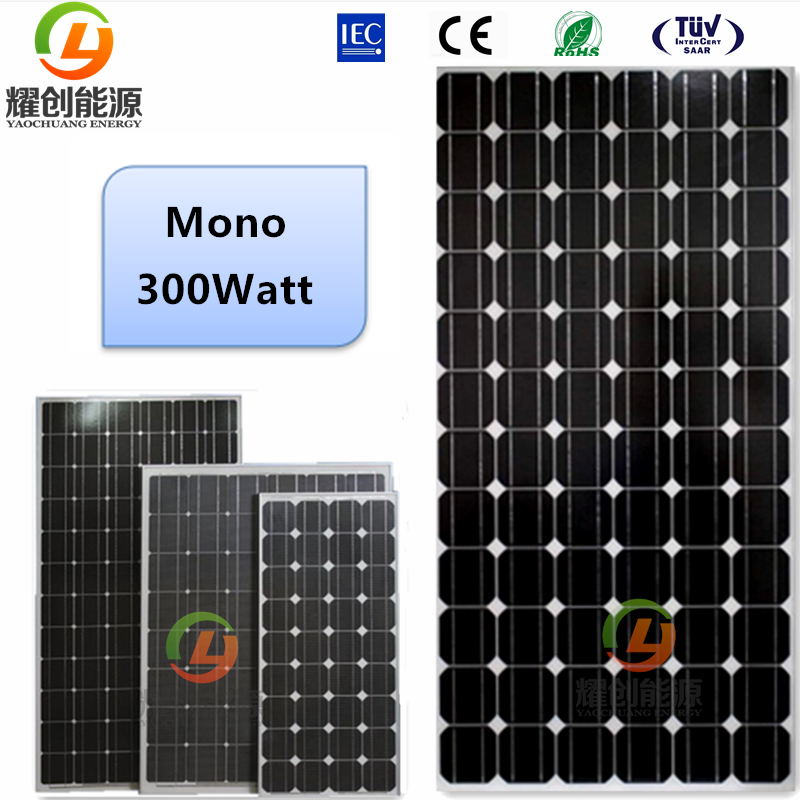 High efficiency solar panel 300watt mono crystalline silicon