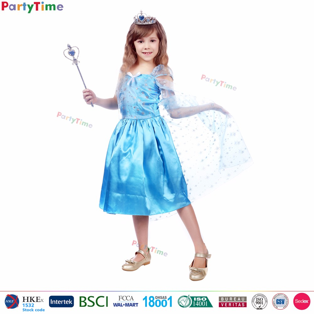 Hot Movie Frozen Kids Anna And Elsa Mascot Halloween Carnival ...