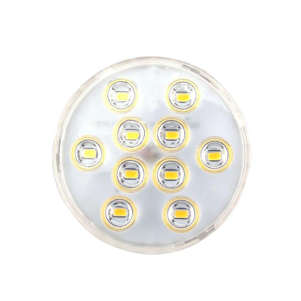 Bonlux LED Gx53 Light Bulb 5W Warm White LED Under Cabinet Light Downlight Puck Light for Replace CFL Gx53 Light Bulb (2-Pack)