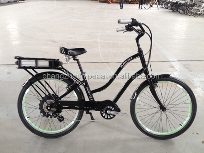factory price cheap 36V500W sandy beach cruiser e bike American ( HJ-CRL)