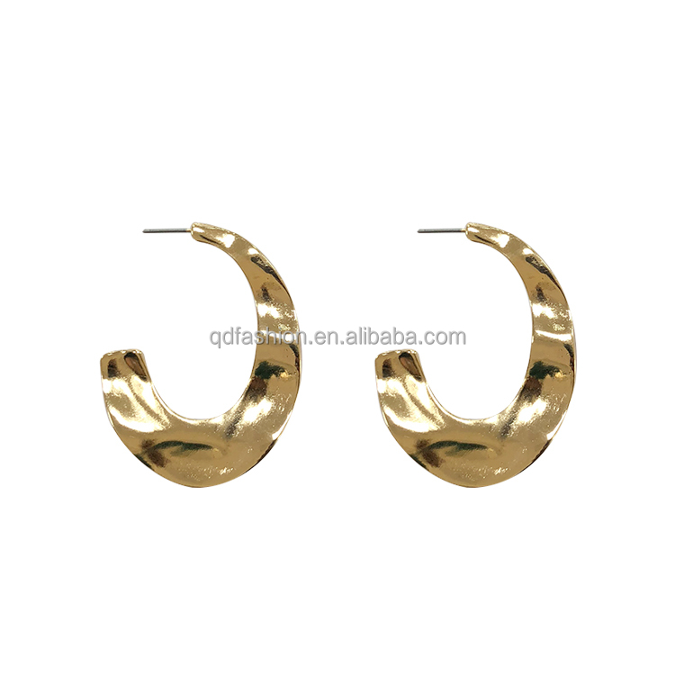 Ancient Egypt old style semicircle jewelry golden dangle earring