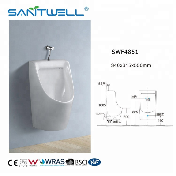 Flush Valve Wall Mounted Toilet Bowl Ceramic Urinal American