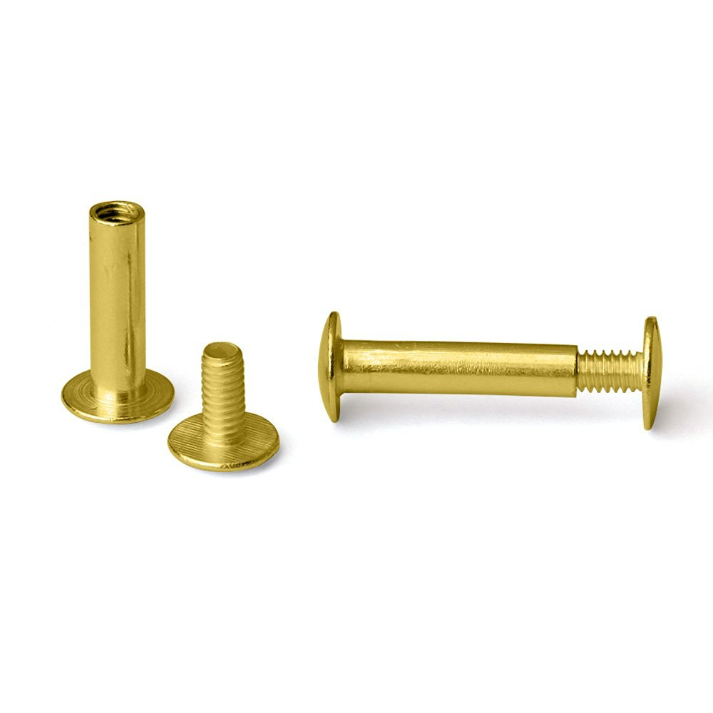 7/8 in. Gold Aluminum Chicago Screws/Screw Posts (Qty 100 sets)