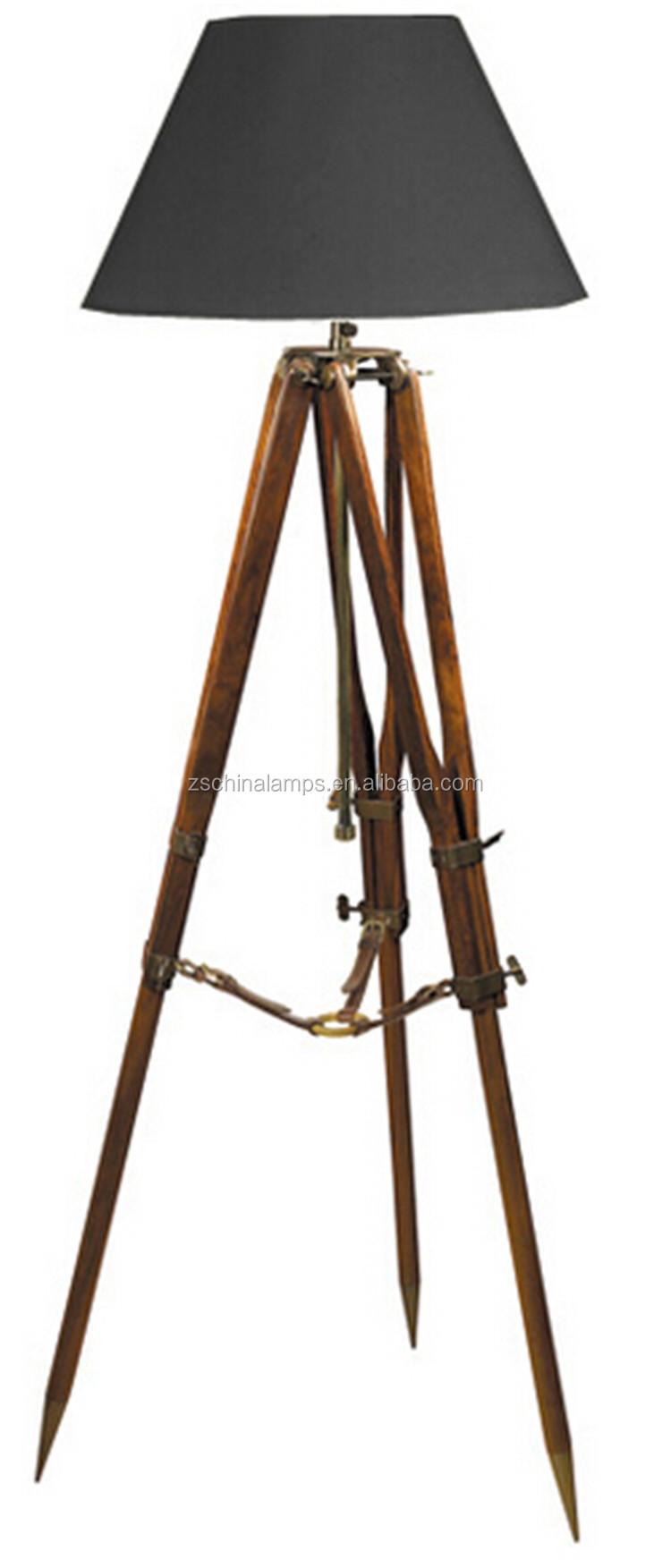 2016 Top Selling Natural Wooden Tripod 3 Legs Floor Lamp With ...