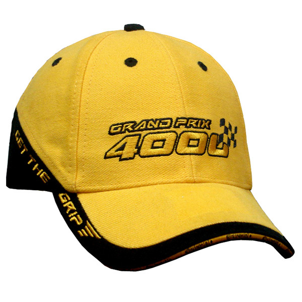 Yeloow Splicing trim Embroidered baseball cap embroidered sandwich brim caps hats