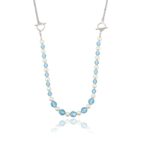 43289-crystals from Swarovski, bead chain necklaces designs