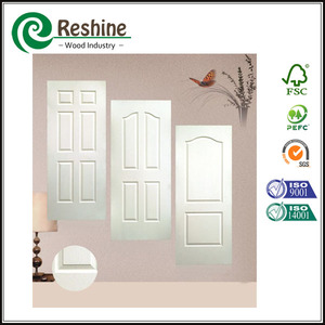 White primed used interior molded wooden office door