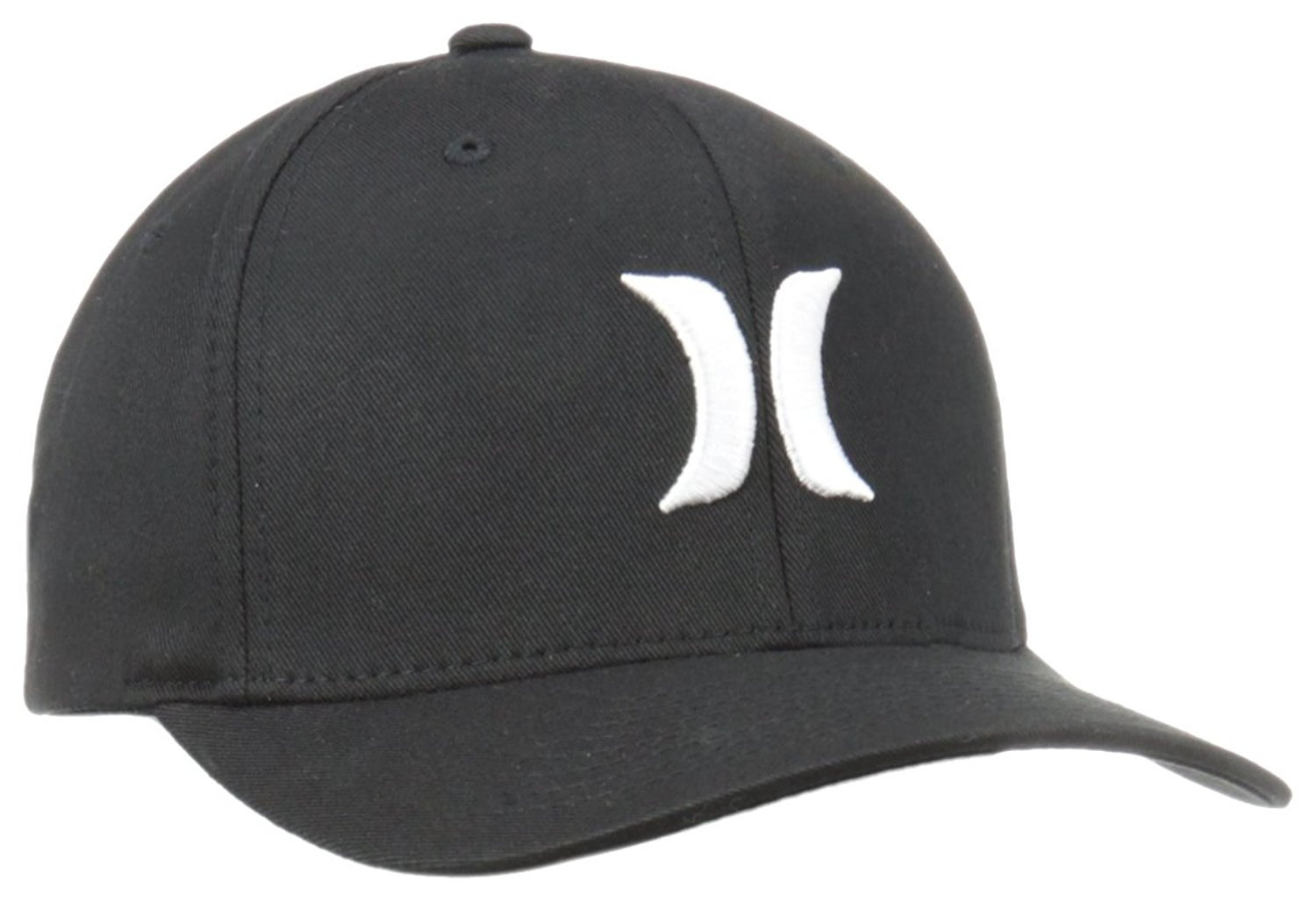 e375f6796a525 Get Quotations · Hurley Men s One and Only Black White Hat Flex Fit