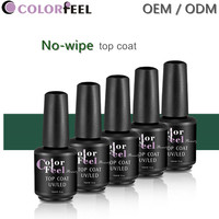 Colorfeel 15ml fashion strengthening nail varnish top coat gel polish Salon uv transparent top coat