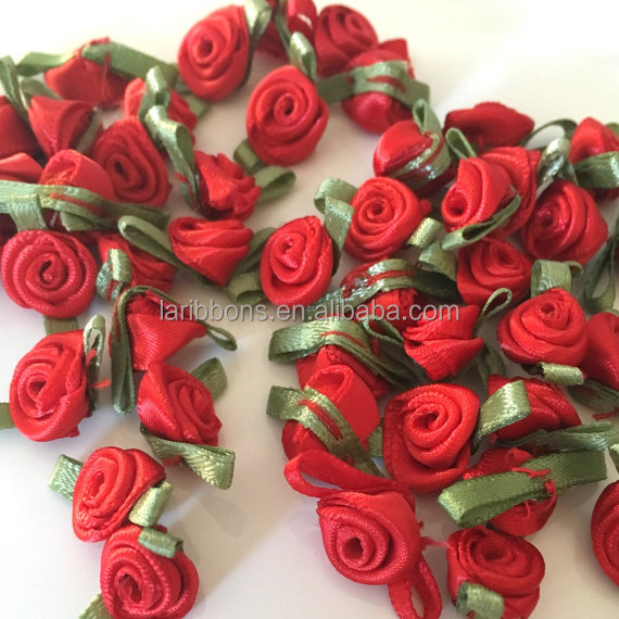 Event decor rose floral ribbon material bouquet wedding bridal