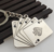 Playing cards Key pendant zinc alloy metal key chain