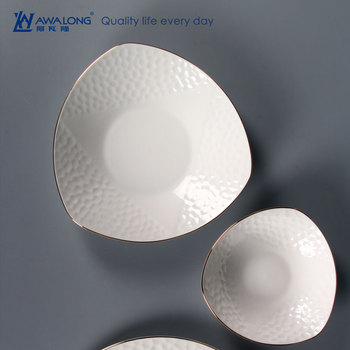 Unique Shape Pretty Design Fine Bone China Plate / Wholesale ...