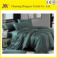 Plain Polyester Woven fabric/288F polyester dyed textile fabric for making 3d bedding sets