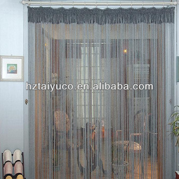 Modern Metallic Fringe String Curtain