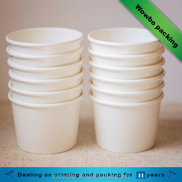 6 OZ disposable custom personalized ice cream cup paper bowls