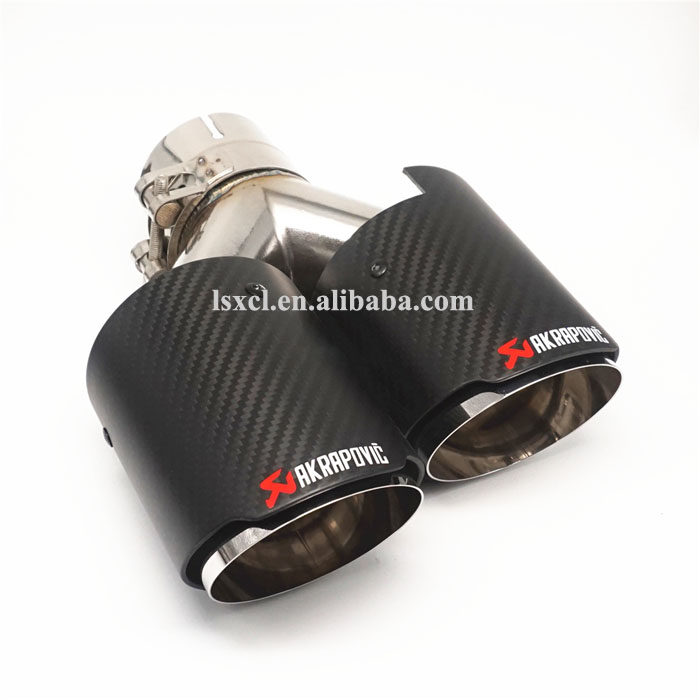 car exhaust pipe tip end tips akrapovic stainless steel carbon fibre dual outlets car exhaust
