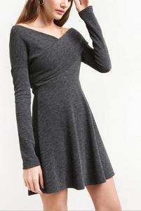 素??a?9/ey/d_runwaylover ey2143d long-sleeved dress women sweater knit a-line