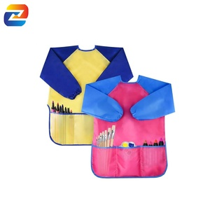 Kids Art Smocks Children Waterproof Artist Painting Aprons Long Sleeve with 3 Pockets