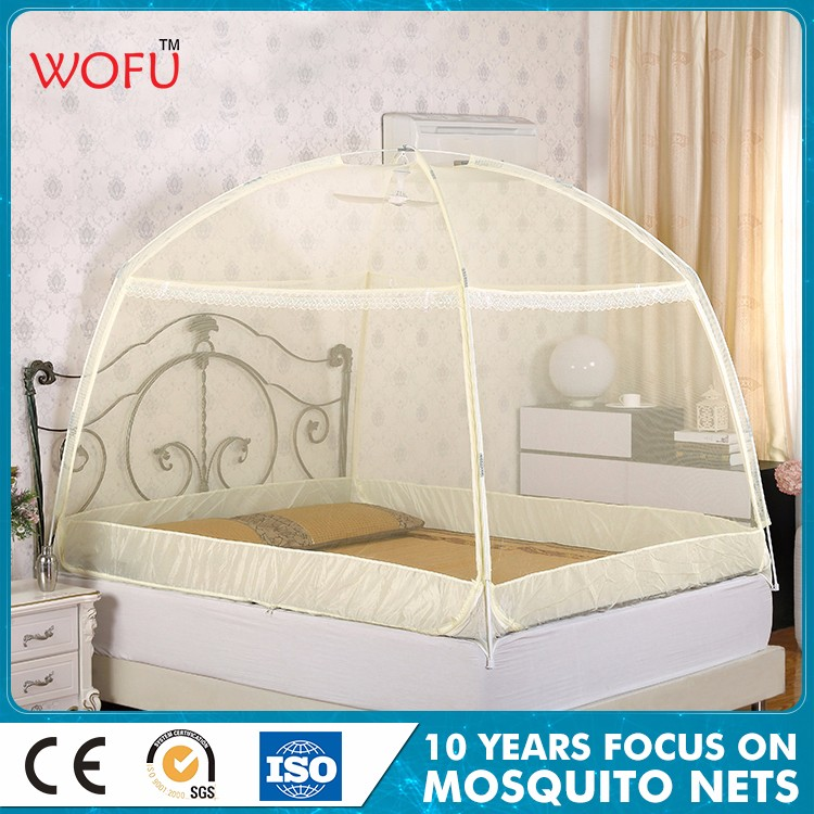 China Zipper Circular Glassfiber Tube Support Bed Canopy Girl