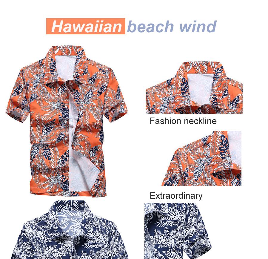 6ec94570b4a Summer Fashion Leaves Printing Loose Shirt