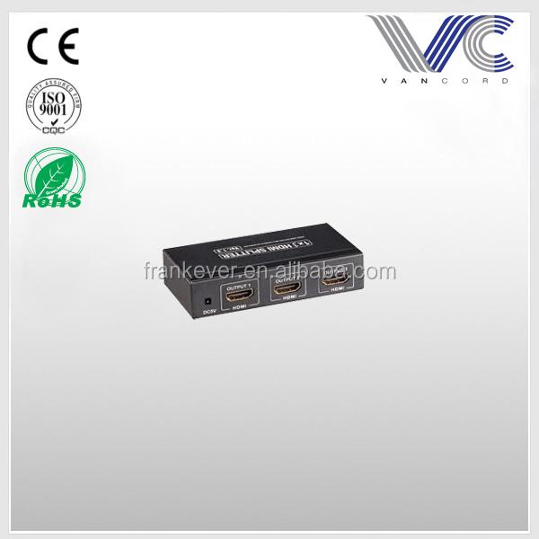 Frankever full 1080P 110-230V DC power adaptor HDMI Splitter.jpg