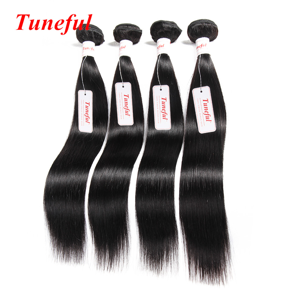 Unprocessed Brazilian Straight Hair Bundles 7A Brazilian Virgin Hair Straight Human Meches Bresilienne Lots hair weaving
