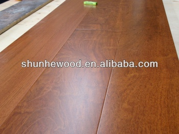Wide Plank Prefinished Jatoba Engineered Wood Flooring Sample Board For Shanghai Domotex