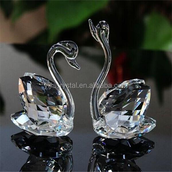 Crystal Clear Swan Estatueta, Lembrança Cisne De Cristal Para Favores Do Casamento Presente de Casamento