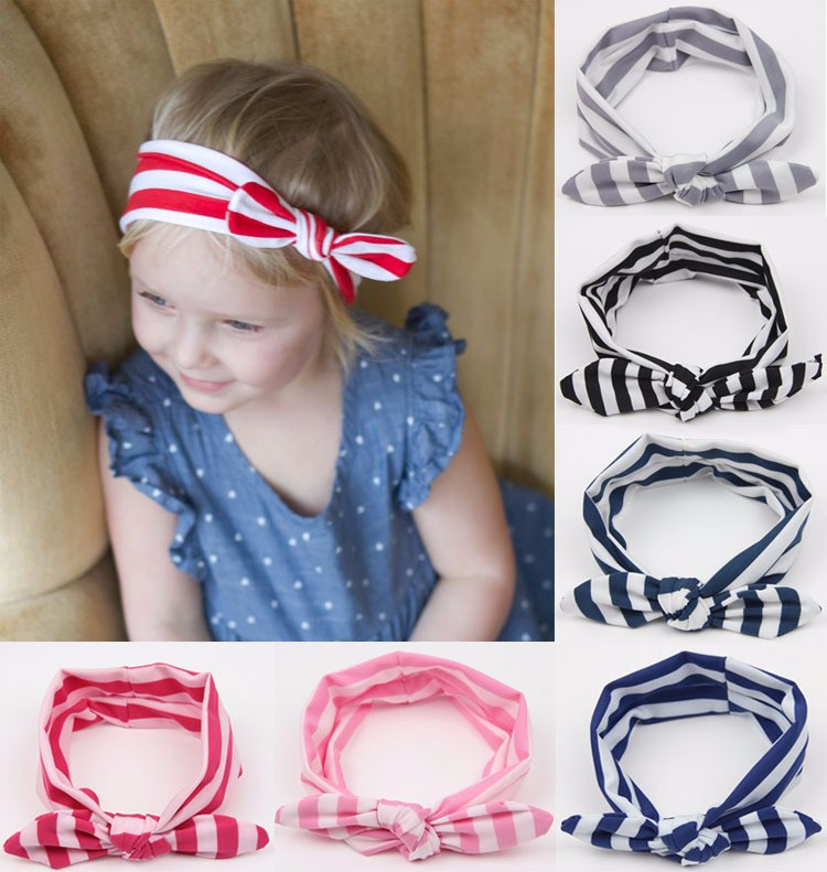 kids toddlers Knotted Baby <strong>Headband</strong> Cotton Stripe knot <strong>Headbands</strong>