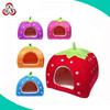 Cute Soft Sponge White Dots Strawberry Pet Cat Dog House Bed