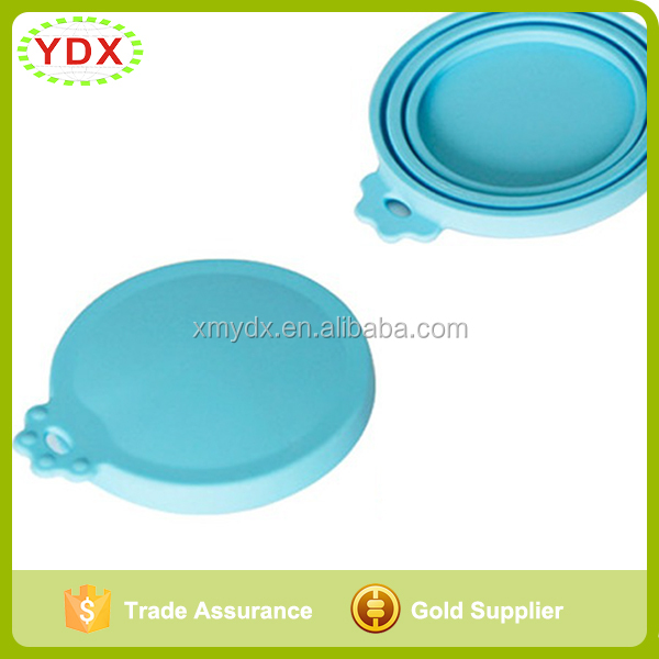 Soft 1 fits 3 different sizes pet can lid tear resistant silicone cat food can lid