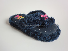 adult slippers new ladies sexy soft indoor slipper flip flops with pom-pom