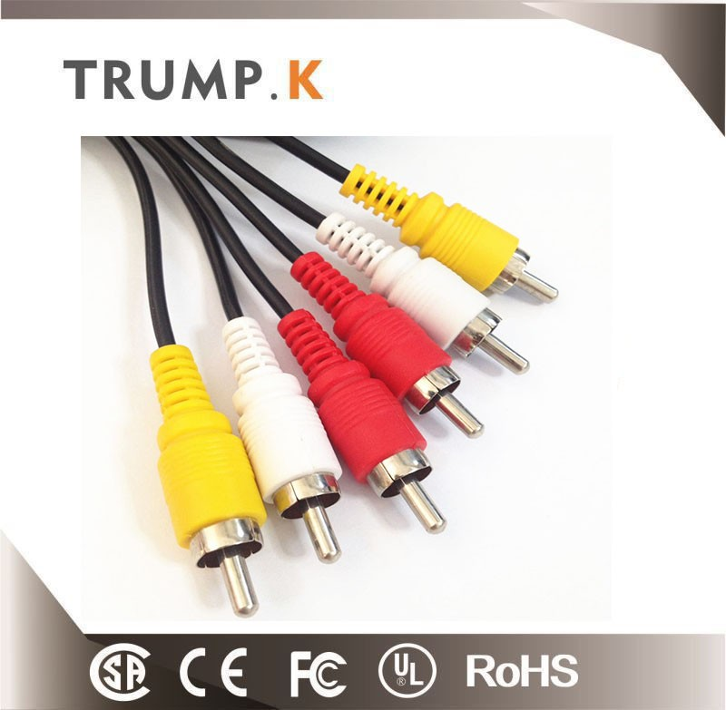 2016 Hot Sell Vga To 3 Rca Cable Gold Plated Male To Male Cable