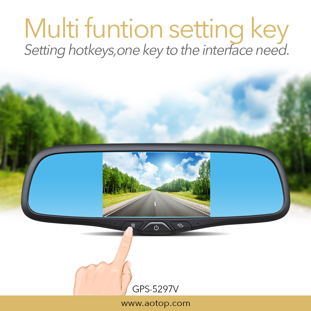 Built-in Microphone Video Recorder car driver anti glare rearview mirror