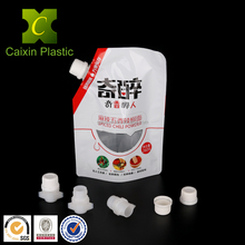 Custom order large plastic screw cap and doypack spout for flexible packaging