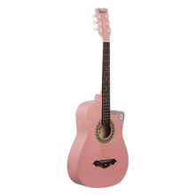 Professional Pink Acoustic Guitar 대 한 Girls