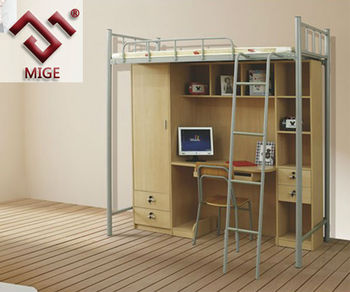 Metal Frame With Desk Double Decker