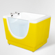 Baby Children Size Bathtub Small Free Standing Side Glass Soaking Whirlpool Hydro Massage Spa Hot Bath Shower Tub